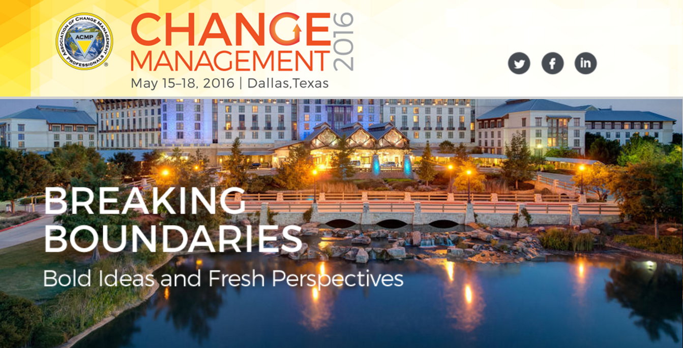 2016 Change Management Conference